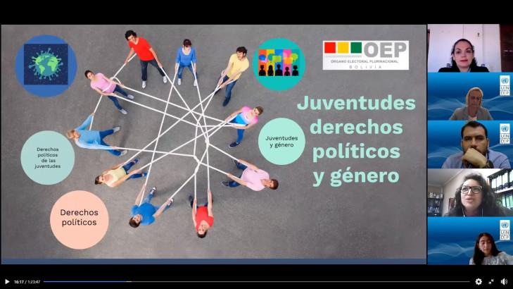 El TED Beni y el PNUD propician un diálogo acerca de la importancia de la juventud en la democracia