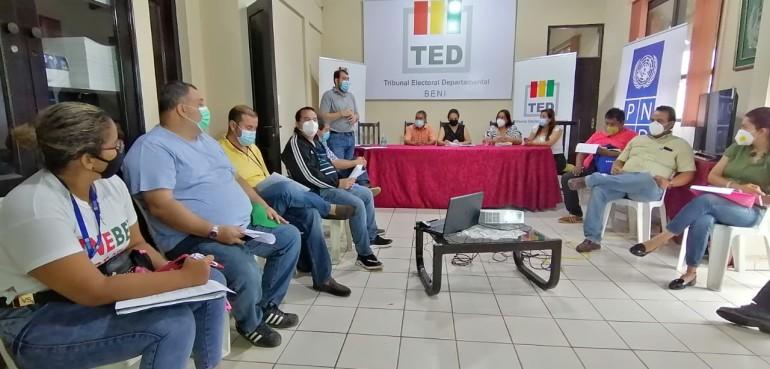 TED Beni y PNUD inician ciclo de debates con candidatos a gobernador y alcaldes