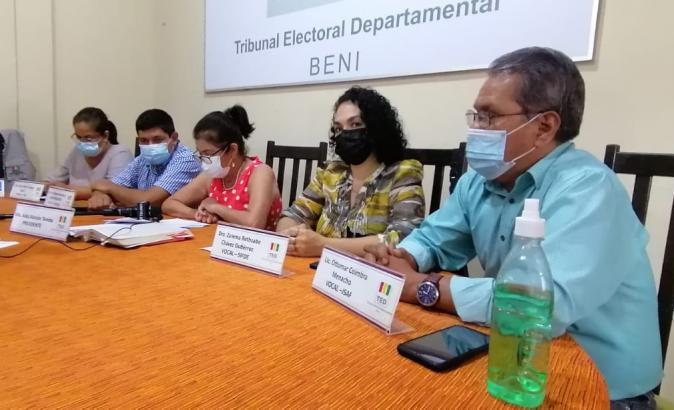 El TED Beni selecciona 36 jurados para la repetición de la votación en 6 mesas de sufragio
